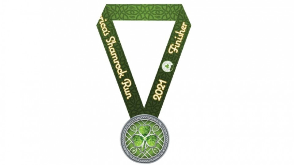 Shamrock Run Medal